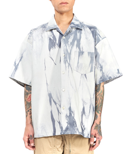 TIE DYE LEATHER SHIRT