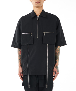 POCKET SHORT SLEEVE SHIRT WITH ZIP DETAIL
