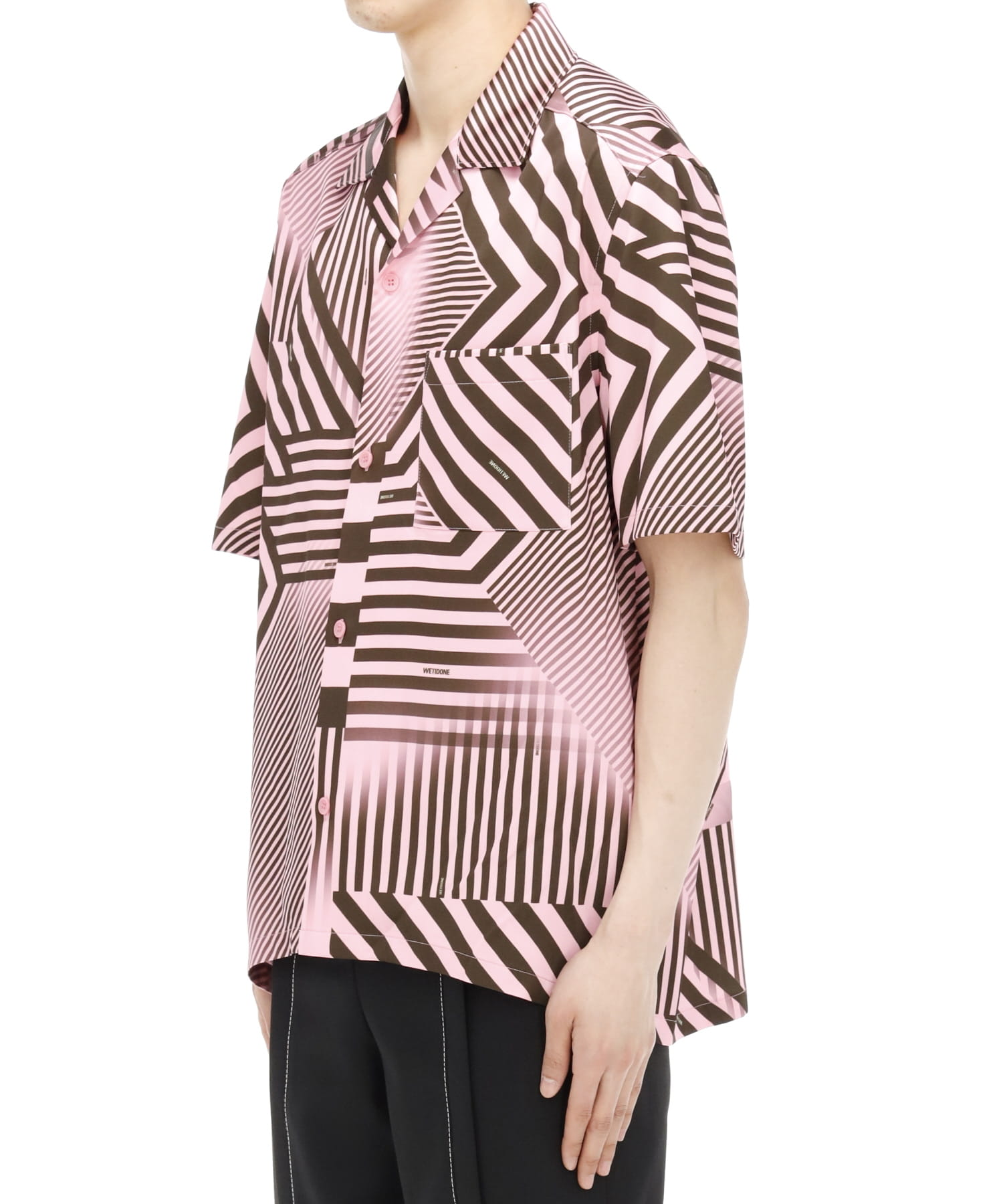 PINK GEOMETRIC PRINT SHORT SLEEVE SHIRT