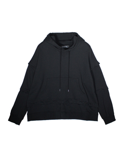 ANREALAGEXIT BLOCK HOODIE WITH PARTS