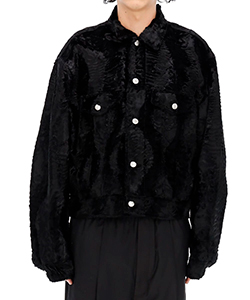 BLACK FAKE FUR JACKET