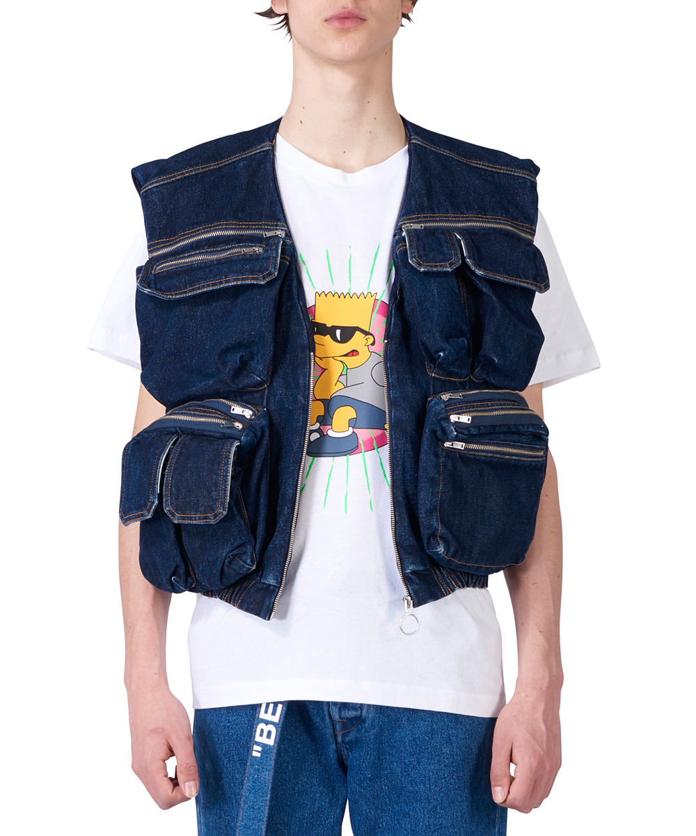 MULTIPOCKET DENIM VEST