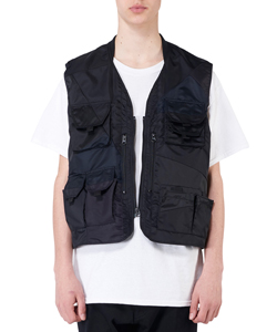 PANEL PATCHWORK NYLON VEST