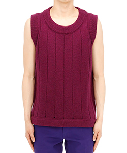 SLEEVELESS OVERSIZED RIBBED GILE