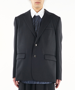 WATTEAU PLEATS TAILORED JACKET
