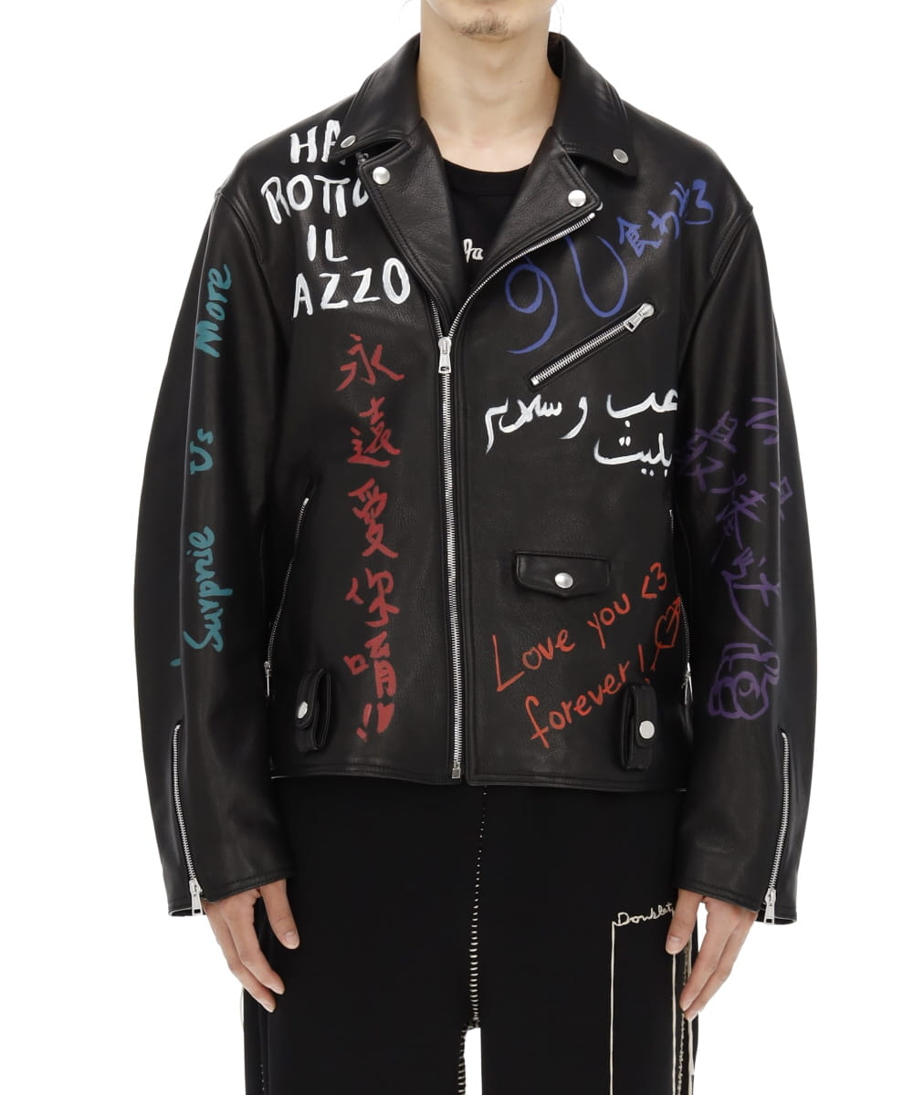 MESSAGE HAND-PAINTED RIDERS JACKET