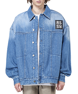 BIG FIT DENIM JACKET WITH FAKE FUR