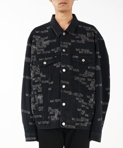 DENIM WELLDONE LOGO STAMP JACKET