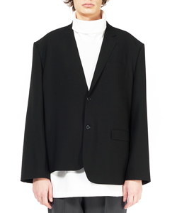 WOOL GABARDINE ASYMMETRY JACKET