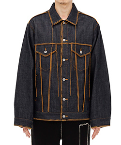 BIG STITCH DENIM BLOUSON
