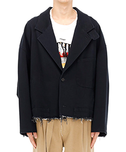 SILK CHINO CUT-OFF JACKET