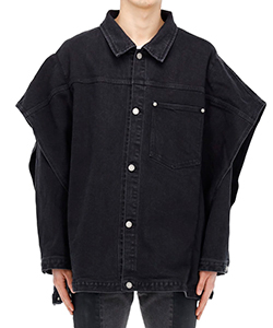 12 5OZ STRETCH DENIM LAYERED BLOUSON