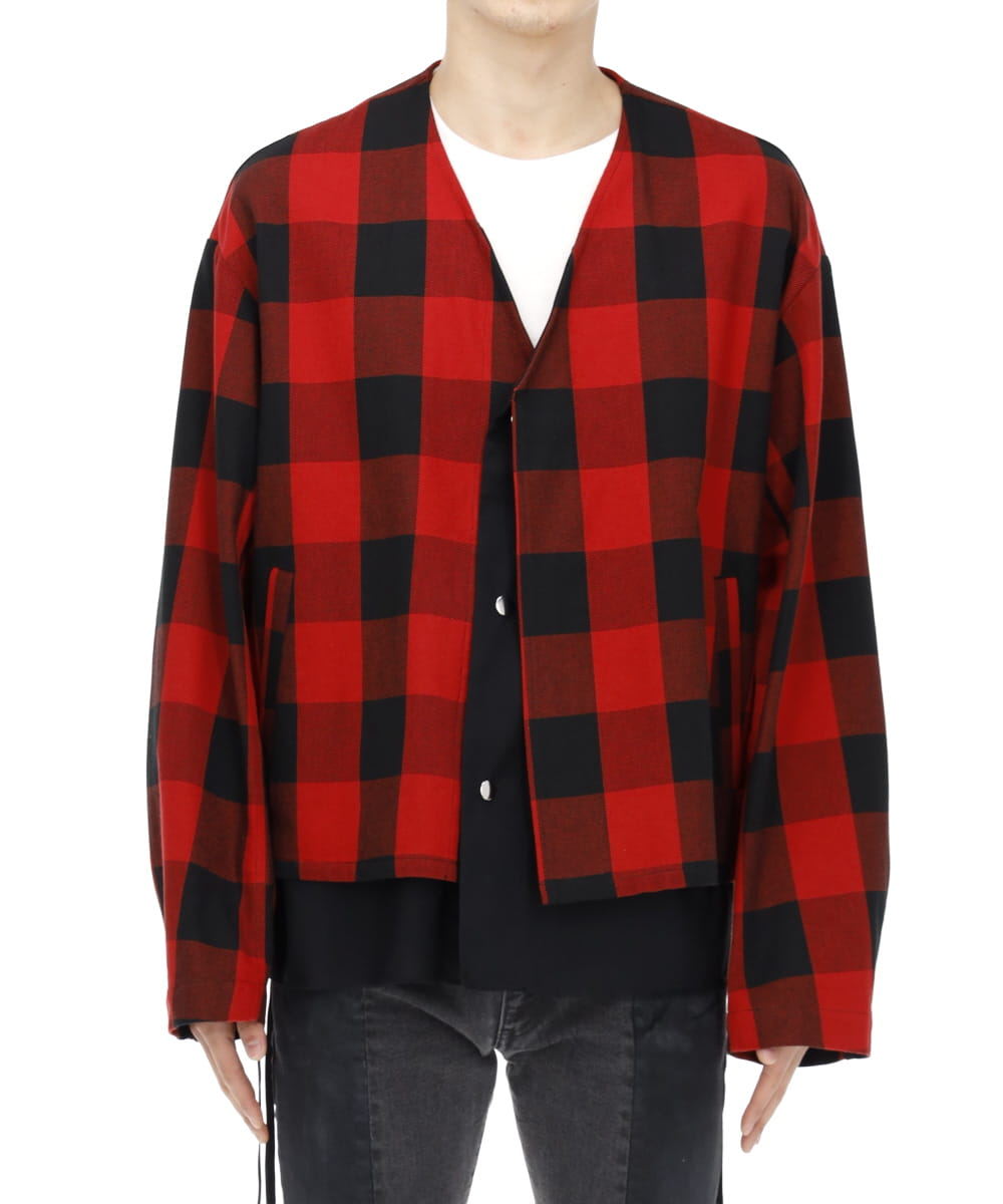 BUFFALO CHECK TWILL COTTON SHIRT BLOUSON