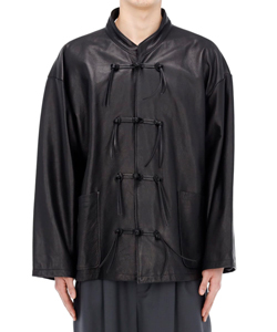 COW LEATHER CHINA SHIRT BLOUSON