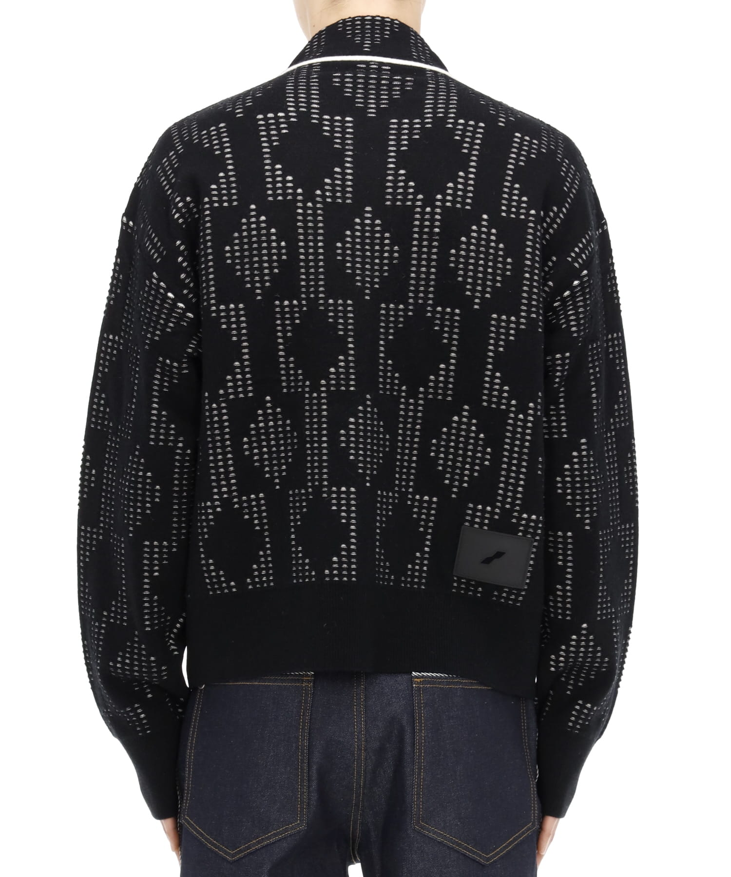 BLACK DOT GEOMETRIC JACQUARD JACKET