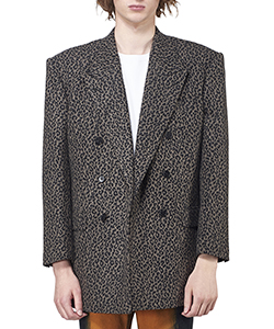 LEOPARD FLANNEL DOUBLE BREASTED JACKET