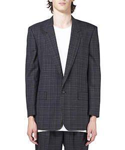 CHECKED WOOL SINGLE JACKET