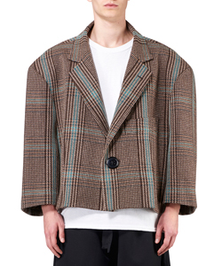 ZOOM GLENCHECK WOOL JACKET