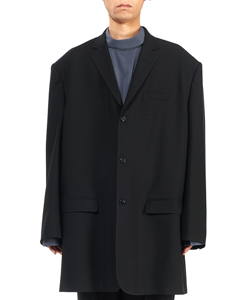 WOOL GABARDINE BIG JACKET