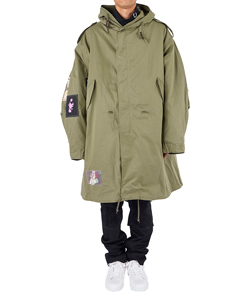 PARKA WITH DETACHABLE FLEECE LINER