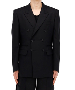 SIDE BUTTON DOUBLE BREASTED JACKET