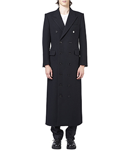 WOOL MELTON DOUBLE BREASTED COAT