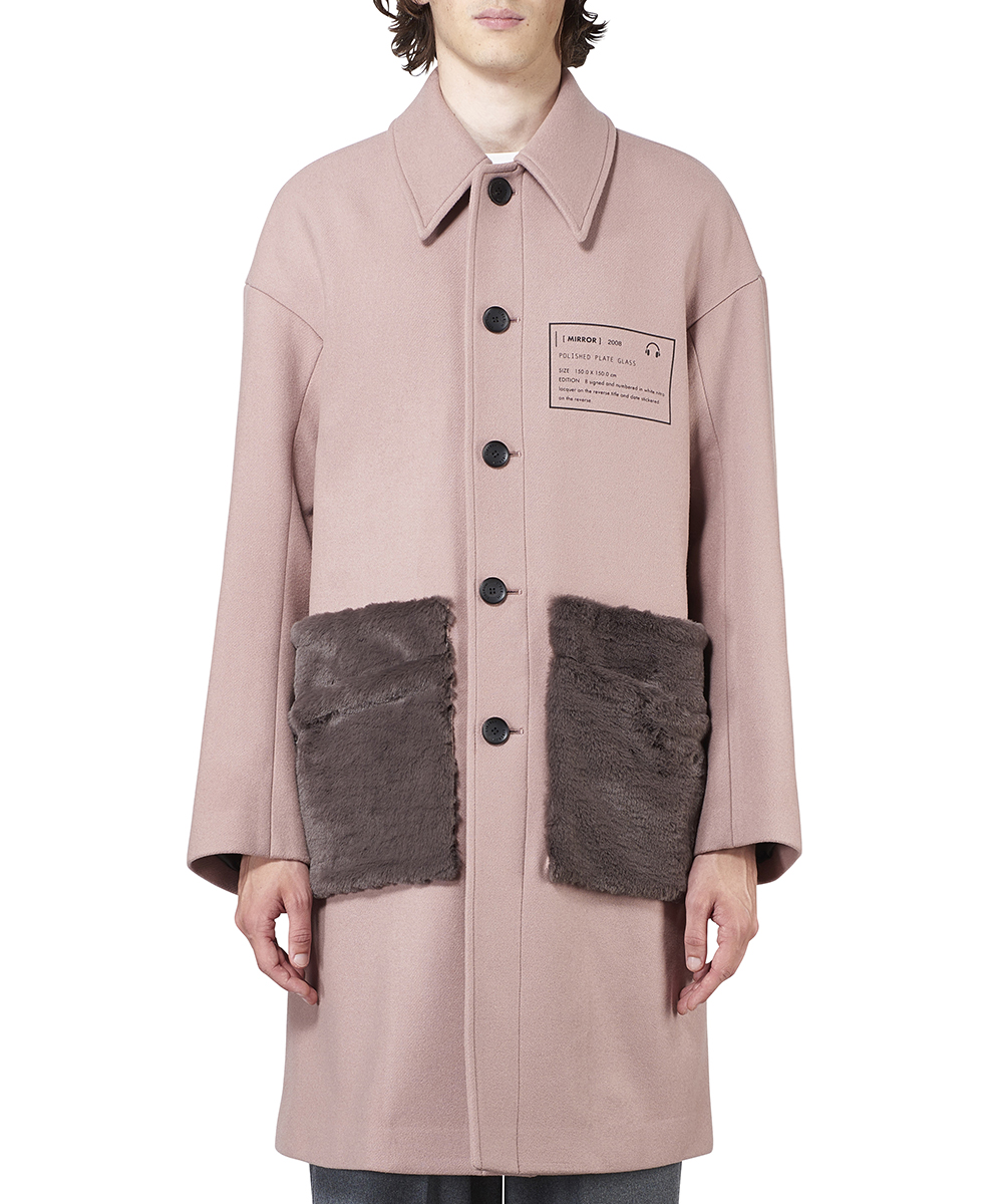 FAR POCKET SOUTIEN COLLAR COAT
