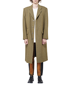 WOOL HERRINGBONE SINGLE COAT