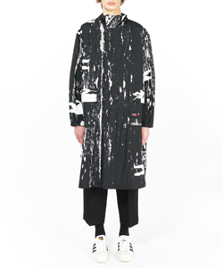 VIER PRINT HOODED COAT