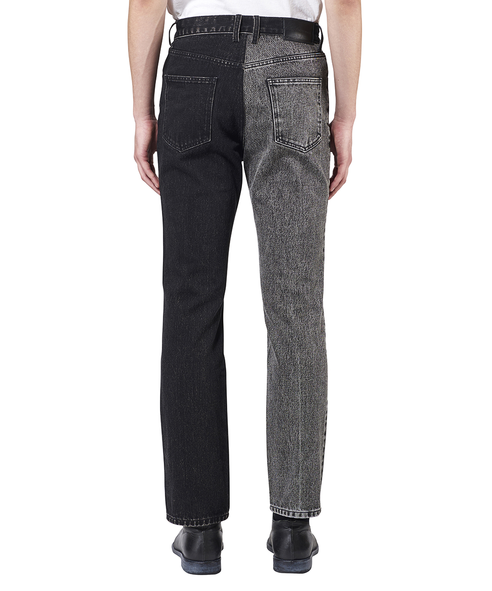 MIDWEST EXCLUSIVE WASHED DENIM BI-COLOR PANTS
