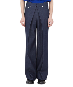 RIGID DENIM WIDE PANTS