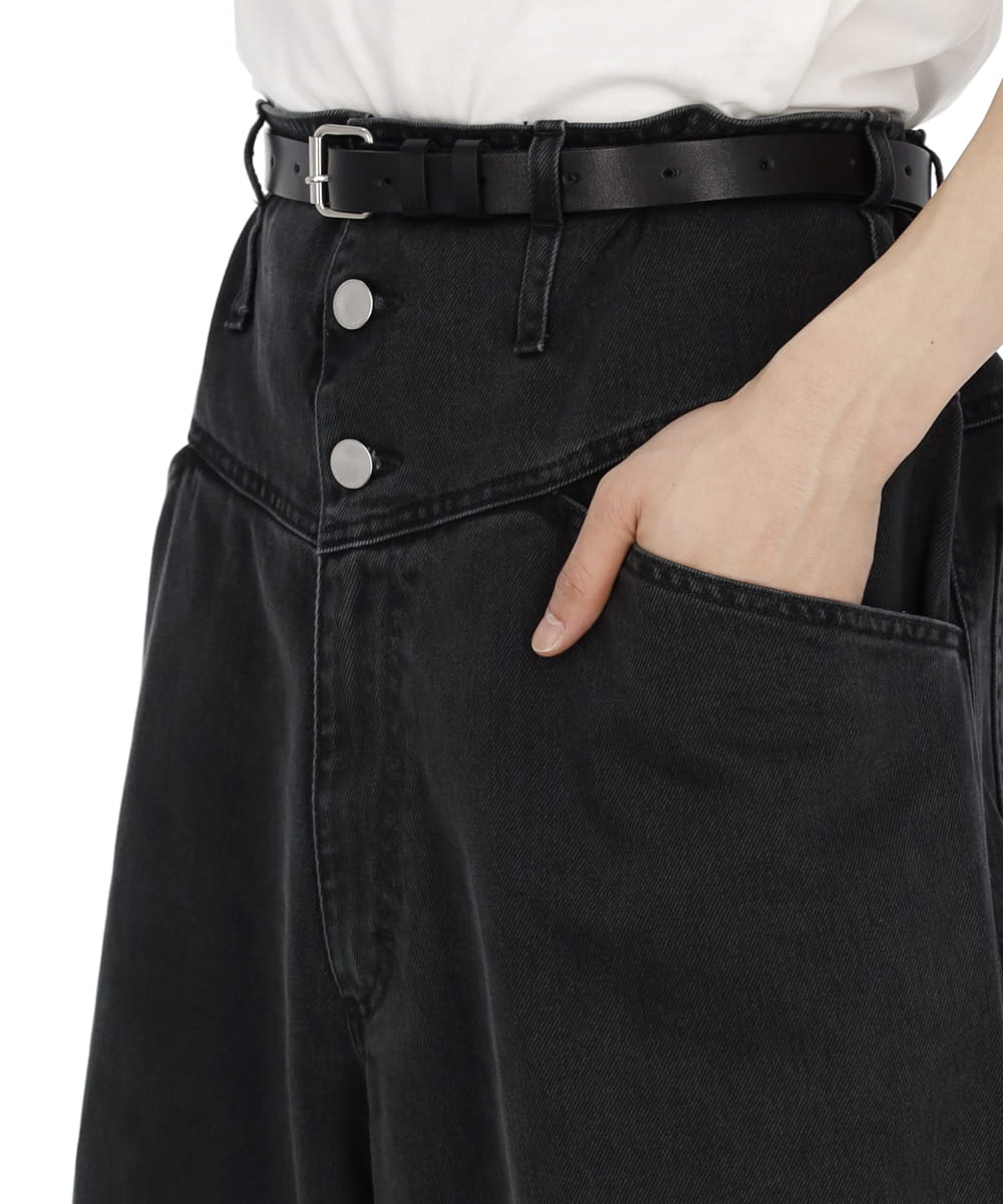 OVERSIZED WIDE DENIM PANTS WITH BANDA