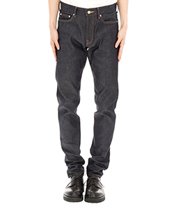 RIGID DENIM TAPERED PANTS