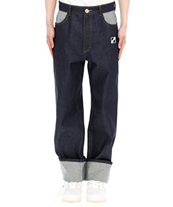 INDIGO BLUE LOGO LINEDDENIM PANTS
