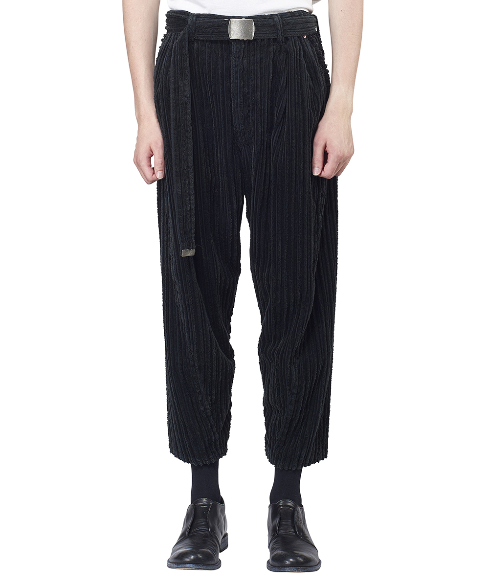 CORDUROY WIDE TAPERED TROUSERS