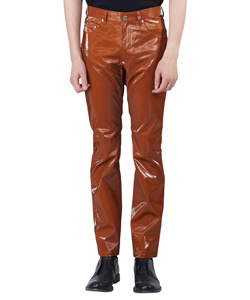 COATED COTTON SWITCHING PANTS