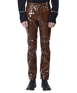 PYTHON COATED COTTON 5POCKET PANTS