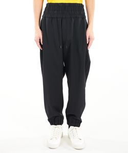 DOUBLE-WAISTED COACH PANTS