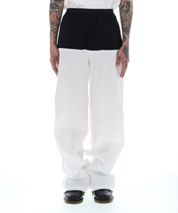 ELASTIC PANTS WITH HORISONTAL CUT