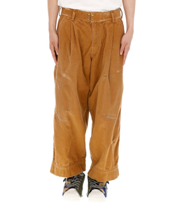 DAMAGE WIDE TROUSERS