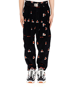 VIETNAM EMBROIDERY WIDE TAPERED TROUSERS