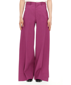 SIDE PLEATED WIDE TROUSERS