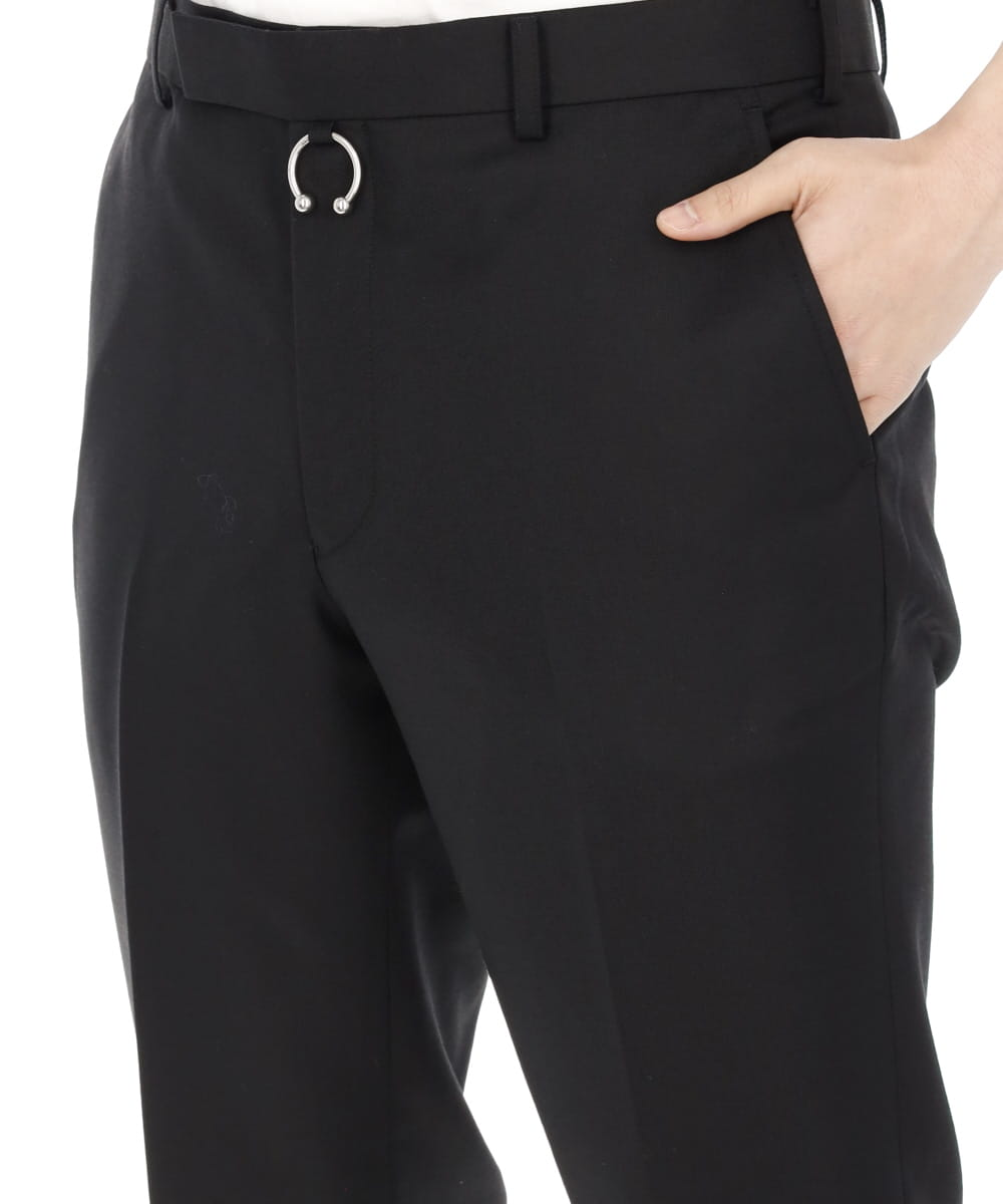 STRAIGHT TROUSERS WITH EIRRING
