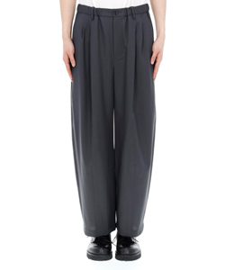 WOOL TROPICAL WIDE PANTS