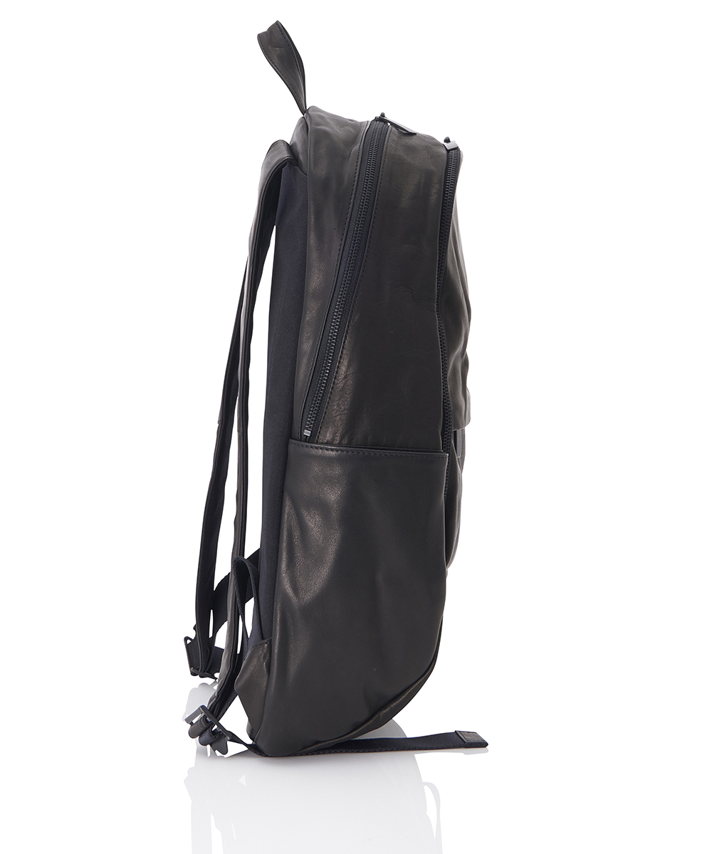 LEATHER WASHED BACKPACK ROUND DOUBLE F