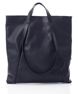 LEATHER MIDDLE TOTE LOOP HANDLE