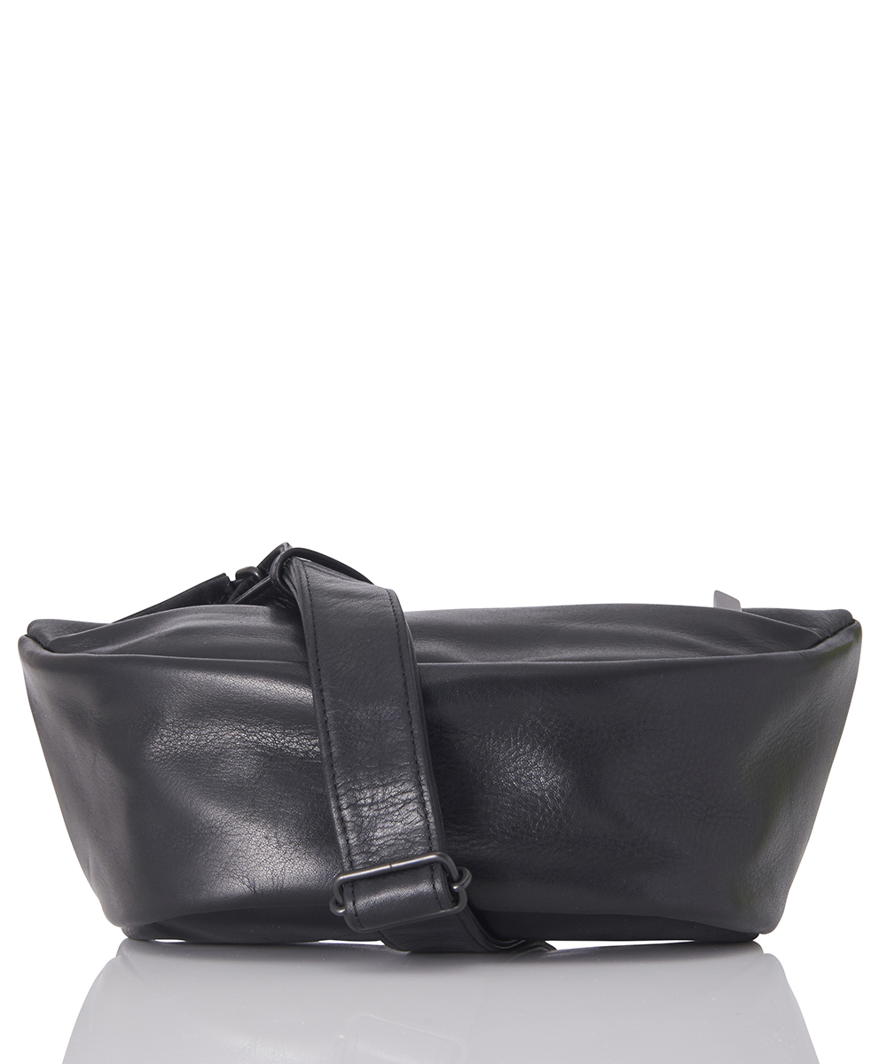 LEATHER SMALL WAIST BAG 'DEMI CERCLE'