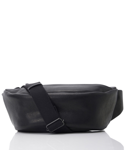 LEATHER SMALL WAIST BAG DEMI CERCLE