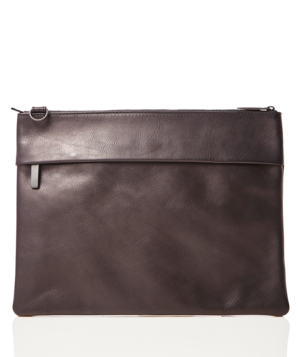 "LEATHER SHOULDER BAG ""GRANDE POCHE"""