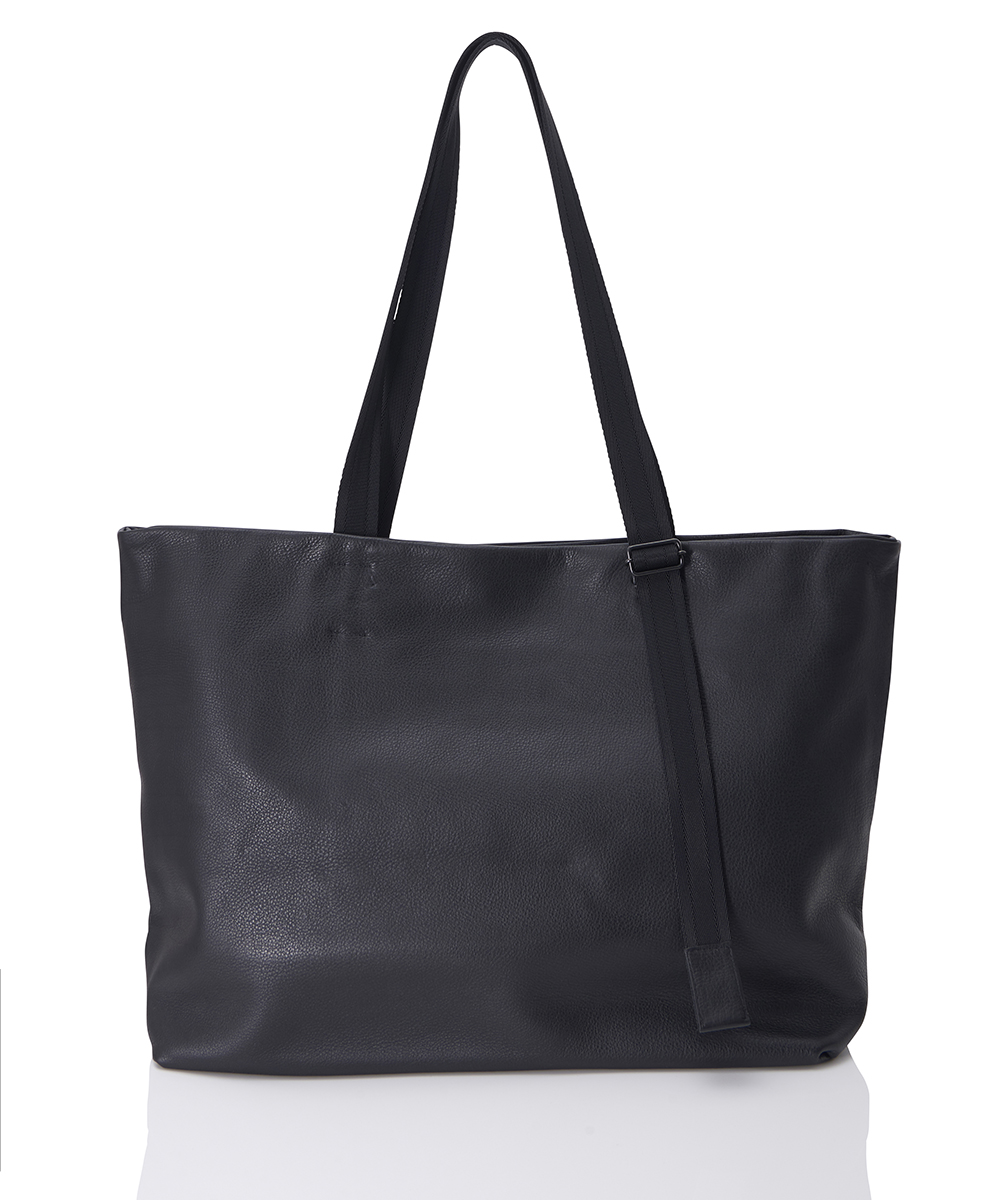 LEATHER TOTE WIDE ADJUSTABLE SHOULDER